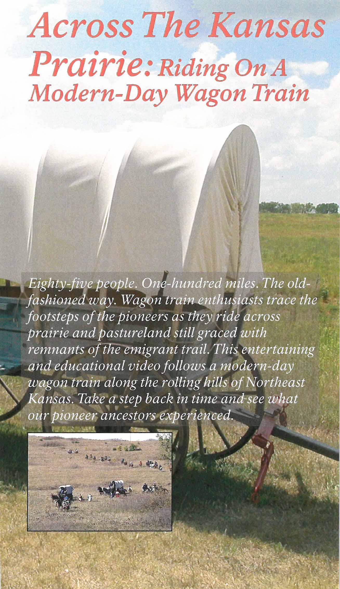 Across the Kansas Prairie: Riding on a Modern-Day Wagon Train (VHS Video) -  OCTA